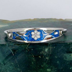 Taxco Mexican Bracelet Blue Stone Abalone C05